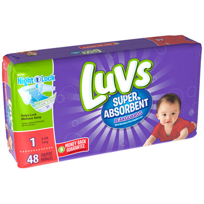 Stretch Luvs Super Absorbent Leakguards Diapers Size 1 48 Count