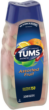 Tums® Extra Strength 750 Assorted Fruit Antacid Calcium Carbonate Chewable Tablets 330 ct Bottle