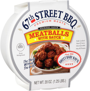Sweet Baby Ray's® 67th Street BBQ™ Meatballs with Sauce 20 oz. Plastic Tub
