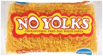 No Yolks® Cholesterol Free Egg White Pasta Fine 12 oz. Bag