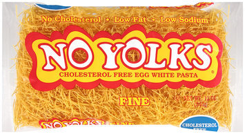 No Yolks® Cholesterol Free Egg White Pasta Fine 12 oz. Bag