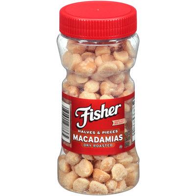 Fisher® Dry Roasted Macadamias Halves & Pieces 6.75 oz. Jar