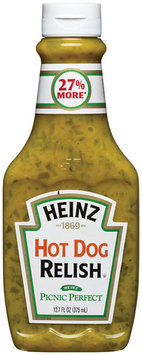 Heinz Hot Dog Relish 12.7 Oz Squeeze Bottle