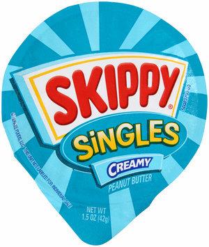 Skippy® Natural Singles Creamy Peanut Butter Spread 6-1.5 oz. Cups