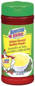 Special Value Chicken Flavored Bouillon Powder 11 Oz Shaker