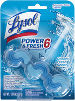 Lysol® Power & Fresh 6 Ocean Fresh Scent Automatic Toilet Cleaner 1.37 oz. Carded Pack