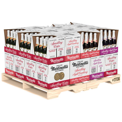 Martinelli's Sparkling Cider Variety Pack 12 Cider/8 Cran/8 Grape