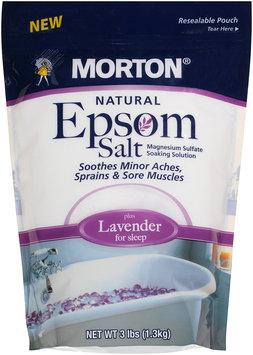 Morton® Natural Epsom Salt plus Lavender 3 lb. Bag