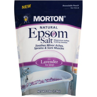 Morton® Natural Epsom Salt plus Lavender 3 lb. Bag
