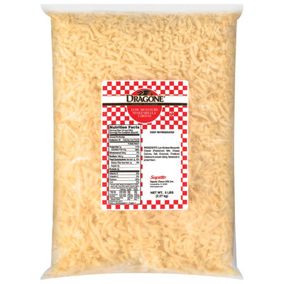 Dragone® Mozzarella Low Moisture Shredded Cheese 5 Lb Bag