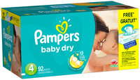 Baby Dry Pampers Baby Dry Size 4 Super Pack with Coupons 92 Count