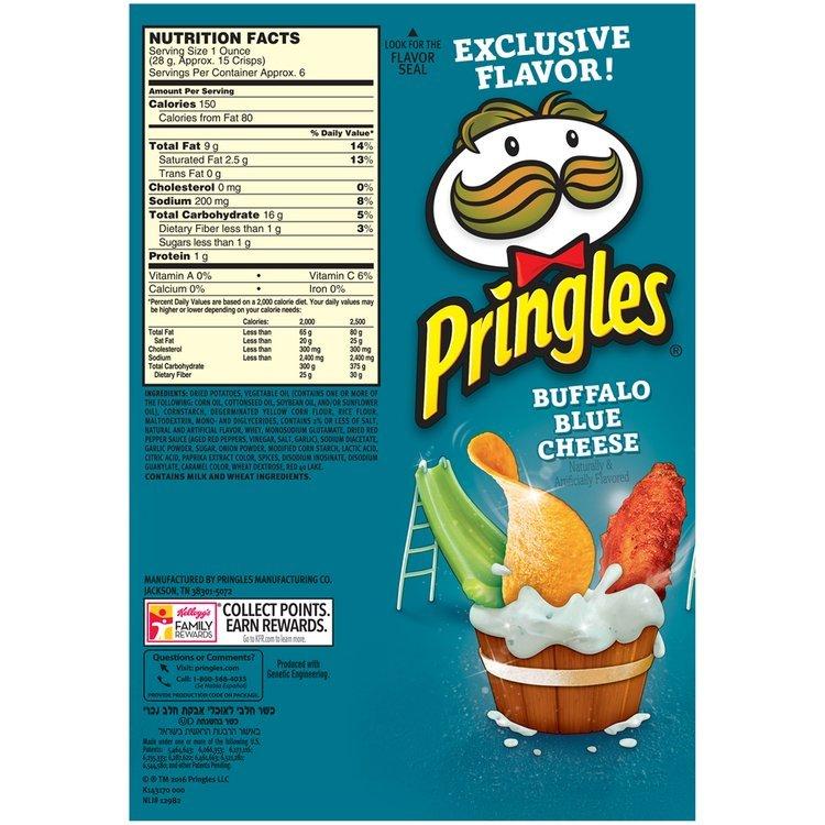 Pringles® Buffalo Blue Cheese Potato Crisps 5.96 oz. Canister