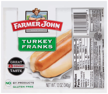 Farmer John Brand® Turkey Franks 8 ct Pack