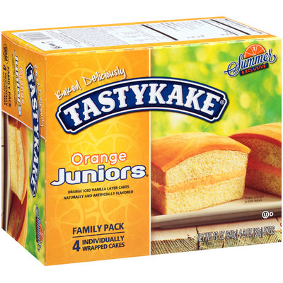 Tastykake® Orange Juniors® Orange Iced Vanilla Layer Cakes