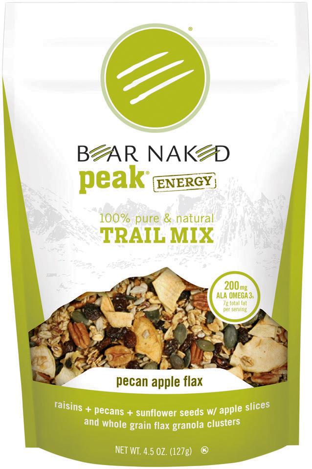Bear Naked Peak Energy Pecan Apple Flax Trail Mix 4.5 Oz Stand Up Bag