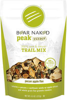 Bear Naked Peak Energy Pecan Apple Flax Trail Mix 4.5 Oz Stand Up Bag
