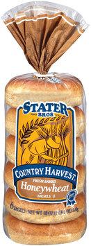 Stater Bros. Honeywheat Country Harvest 6 Ct Bagels 18 Oz Bag