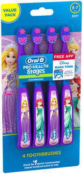 Pro Health Stages Oral-B Pro-Health Stages Kids Manual Toothbrush featuring Disney Princess with Disney MagicTimer App by Oral-B 4 Count