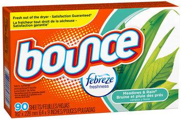 Bounce with Febreze Meadows & Rain Fabric Softener Sheets 90 ct Box