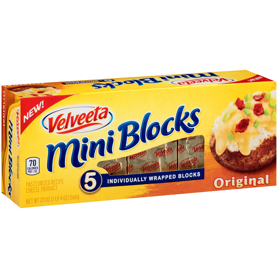 Velveeta Mini Blocks Original Cheese 20 oz. Box