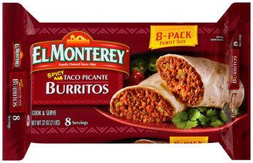El Monterey® Spicy Taco Picante Burritos 8 ct Pack