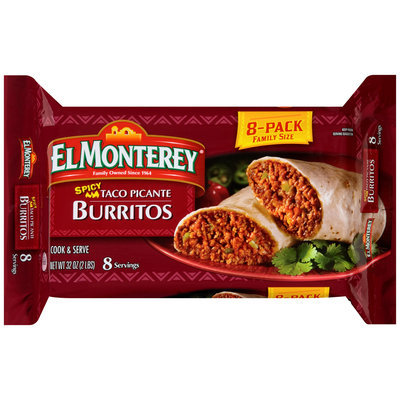 El Monterey® Spicy Taco Picante Burritos 8 ct Pack
