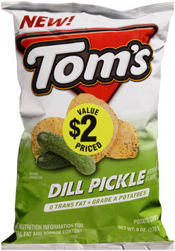 Tom's® Dill Pickle Potato Chips 6 oz. Bag