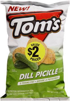 Tom's® Dill Pickle Potato Chips 6 oz. Bag