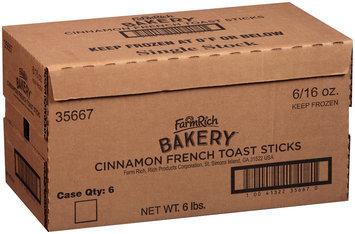 Farm Rich® Bakery™ Cinnamon French Toast Sticks 6-16 oz. Boxes