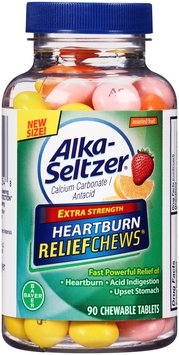 Alka-Seltzer® Extra Strength Heartburn ReliefChews® Assorted Fruit Chewable Tablets 90 ct Plastic Jar
