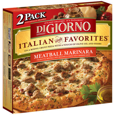 DIGIORNO Italian Style Favorites Meatball Marinara Pizza 2 PK BOX