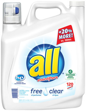 all® free clear Laundry Detergent 180 fl. oz. Bottle