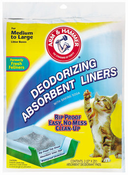 ARM & HAMMER™ Medium to Large Deodorizing W/Baking Soda Absorbent Liners