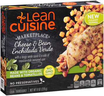 LEAN CUISINE MARKETPLACE Cheese and Bean Enchilada Verde 8 oz Box