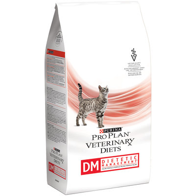 Purina Pro Plan Veterinary Diets DM Dietetic Management Feline Formula Cat Food 10 lb. Bag