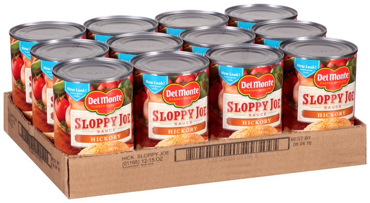 Del Monte Hickory Sloppy Joe Sauce 12-15 oz. Cans