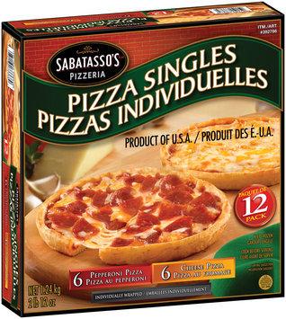 Sabatasso's® Pepperoni/Cheese Pizza Singles 12 ct Box