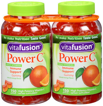 Vitafusion™ Power C™ Dietary Supplement Adult Vitamin Gummies 2-150 ct Bottles