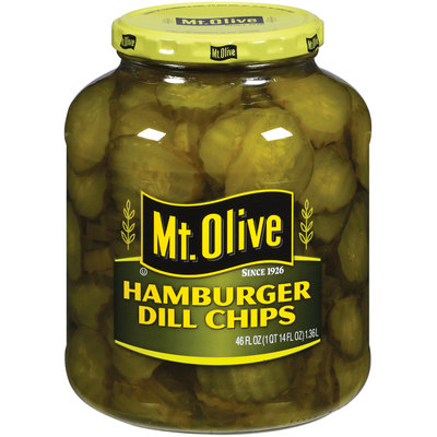 Mt. Olive Hamburger Dill Chips Pickles 46 Oz Jar