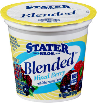 Stater Bros.® Blended Mixed Berry Lowfat Yogurt 6 oz. Cup
