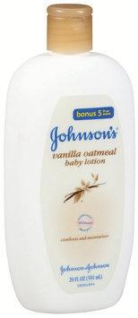 Johnson's® Vanilla Oatmeal Bonus! 5 Fl Oz More Baby Lotion 20 Fl Oz Plastic Bottle
