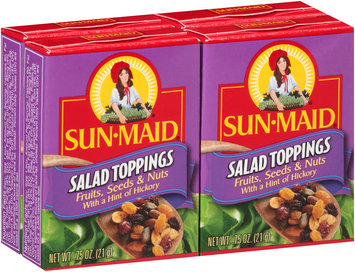 Sun-Maid® Fruits, Seeds & Nuts with a Hint of Hickory Salad Toppings 4-0.75 oz. Boxes