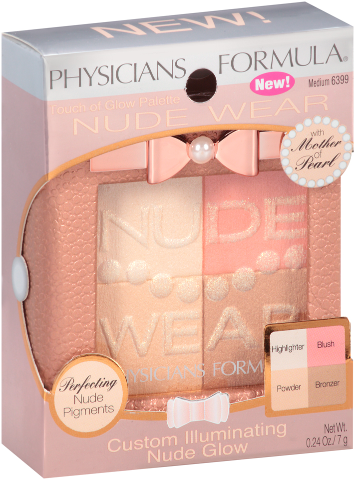 Physicians Formula® Nude Wear™ 6399 Medium Touch of Glow Palette 0.24 oz. Box