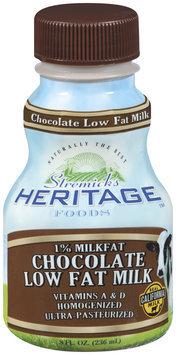 Stremicks Heritage Foods® Chocolate Low Fat Milk 8  fl. oz. Bottle