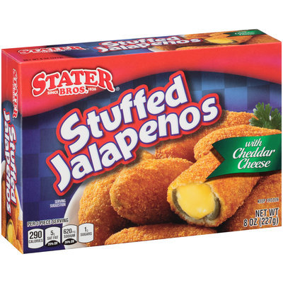 Stater Bros.® Stuffed Jalapenos with Cheddar Cheese 8 oz. Box