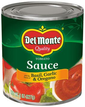 Del Monte™ Tomato Sauce with the Flavors of Basil, Garlic & Oregano 8 oz. Can