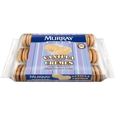 Murray® Vanilla Cremes Sandwich Cookies 13 oz. Tray
