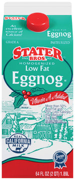 Stater Bros.® Homogenized Low Fat Eggnog Vitamin A Added