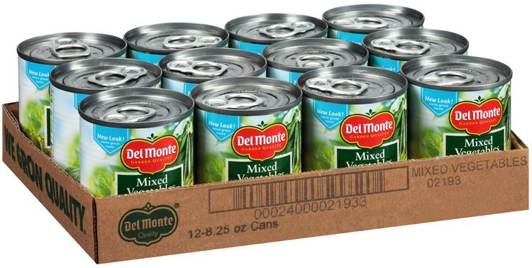 Del Monte™ Mixed Vegetables 12-8.25 oz. Cans