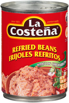 La Costena® Refried Beans with Chicharron 20.5 oz. Can